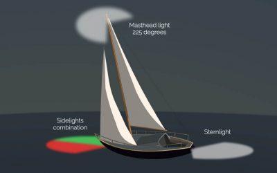 Navigation Lights at Night